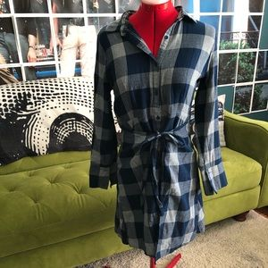 Modcloth lined apron flannel dress
